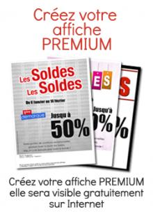 SOLDES Affiche Premium
