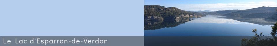 Le Lac d'Esparron-de-Verdon